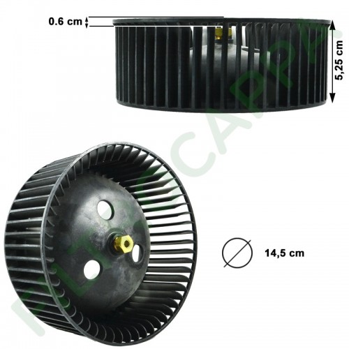FABER COOKER HOOD FAN WHEEL RIGHT DIAMETER 14,5 CM GENUINE SPARE PART 133.0016.963