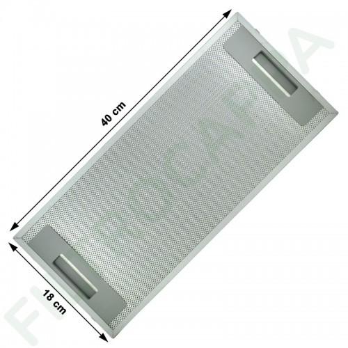 METAL FILTER 18 X 40 CM FOR FABER COOKER HOOD 133.0073.624