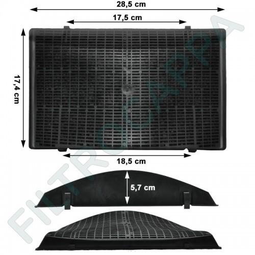 CHARCOAL FILTER (2 PCS) ELICA 28,5 X 17,4 THIKNESS 5,5 CM MOD 37 F00397/1S