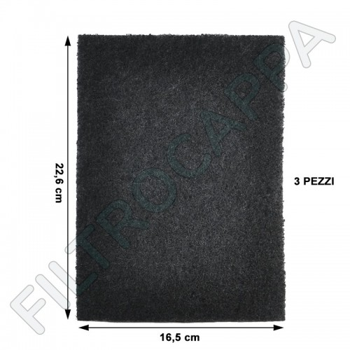 KIT 3 PIECES ACTIVATED CARBON FILTER ACRYLIC HOOD GALVAMET 005ME01000