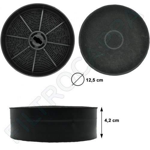 CHARCOAL FILTER ( 2 PCS ) DIAMETER 12,5 COOKER HOODS BEST FABER FRANKE IKEA FKS240