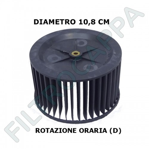 COOKER HOOD FAN WHEEL 10,8 CM DIAMETER FOR FABER ROTATION RIGHT 133.0052.887