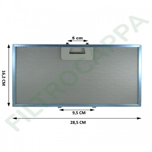 FILTRO METALLICO 28,5 x 16,2 CM ORIGINALE GALVAMET OPTIMA 60 90 R258118