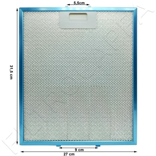 METAL FILTER 31,5 x 27 CM GENUINE SPARE PART GALVAMET MAGIC 90 R258020