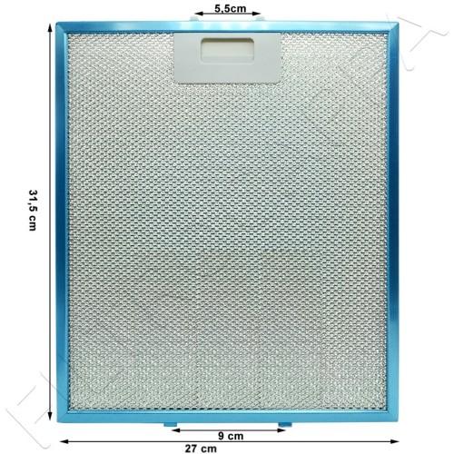 METALLFILTER 31,5 x 27 CM FÜR DUNSTABZUGSHAUBEN GALVAMAET MAGIC 90 ORIGINALES ERSATZTEIL R258020