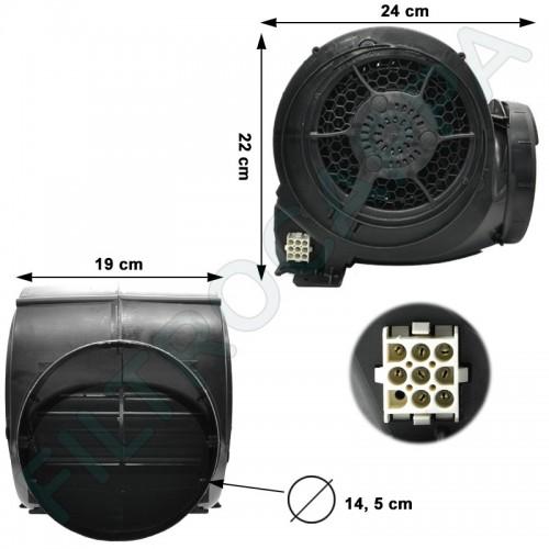 MOTORE CAPPA 800 MC PLUS FABER FRANKE 8 PIN 133.0438.965