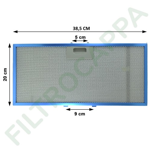 METAL FILTER FOR ELICA BOX IN COOKER HOODS 38,5 X 20 CM GENUINE SPARE PART GRI0090495A