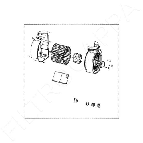 MOTORE CAPPA FABER FRANKE ORIGINALE FILO COMUNE M8 133.0151.243