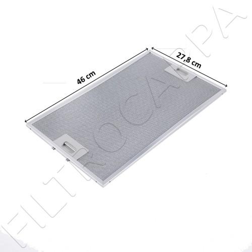 METAL FILTER 46 X 27,8 CM FOR COOKER HOOD ELICA ALASKA ICEBERG IGLOO NORTH POLE 1010GW