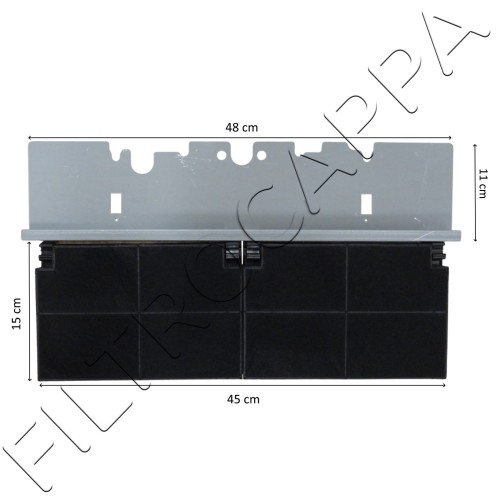KIT CHARCOAL FILTER WITH BRACKET COOKER HOOD FABER IN-NOVA 112.0441.093