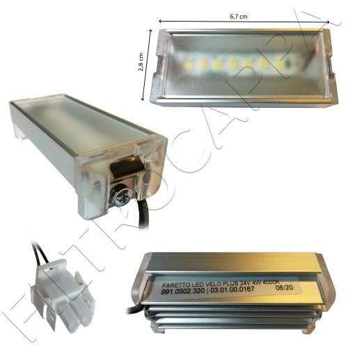 FARETTO LED 24 volt 4 WATT 4000K RETTANGOLARE 133.0516.040