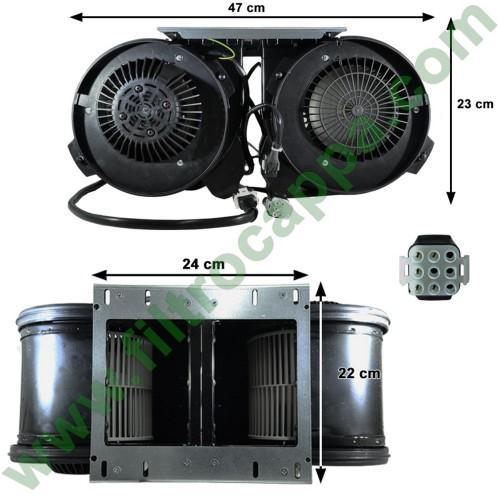 MOTORE BIMOTORE 1800 MC/H CAPPA ASPIRANTE AIRONE CONVIVIO  CEMCA1800002400006