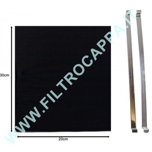 CHARCOAL FILTER LONG LIFE WASHABLE 30 X 20 X 1 CM HAMLET 60 PCRL5