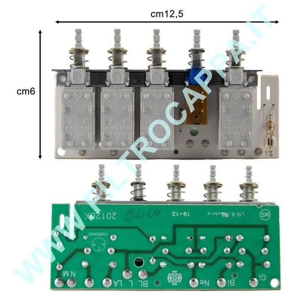 KEYBOARD ELICA TURBOAIR  SMEG 2012BK/R ECB0118149