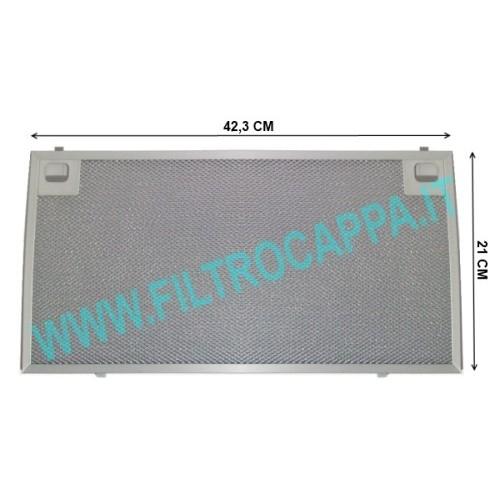 FILTRO METALLICO 42,3 X 21 CM CAPPA KSET910X ORIGINALE SMEG 073410595 (FILTRO PARTE FISSA) ex 073410595