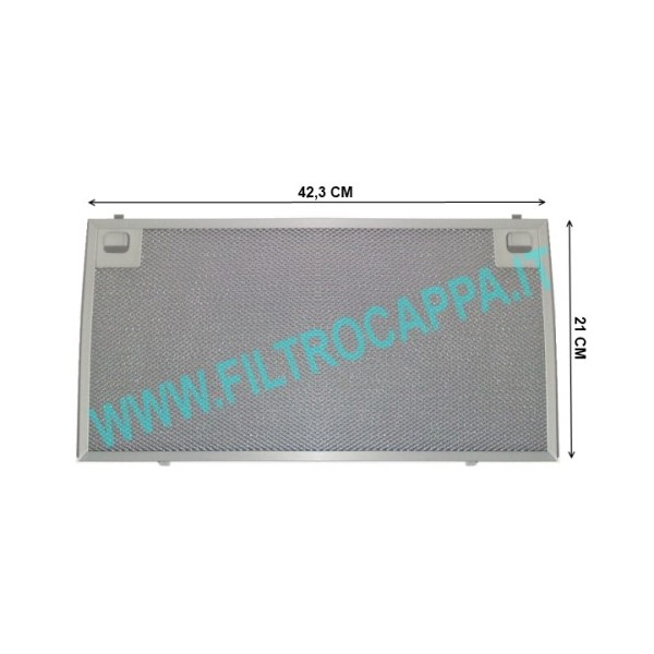 FILTRO METALLICO 42 X 21 CAPPA KSET910X ORIGINALE SMEG 073410733