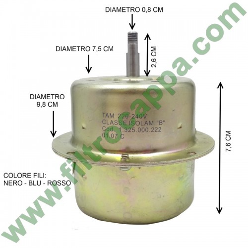 MOTOR VORTICE CH75 220 VOLTS 1.325.000.222