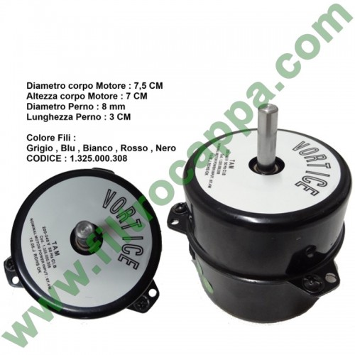 MOTOR FOR VORTICE CENTRIFUGO MEDIO  2 SPEED 220 VOLT 1.325.000.308