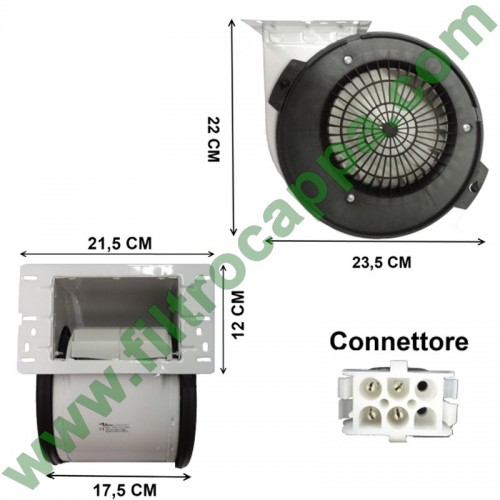 MOTOR 800 MC/H FOR COOKER HOOD AIRONE 4 SPEED