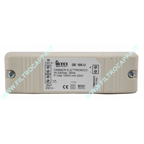 ELECTRONIC DIMMER TRANSFORMER FOR HALOGEN SPOTLIGHT 100 W DE 100 U